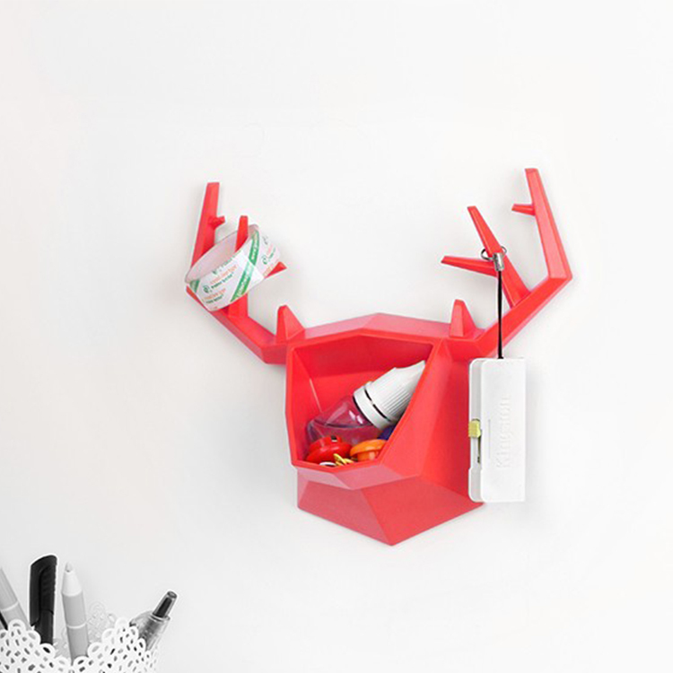 Small Elk Wall storage rack /Deer shaped wall holder Key Hangers Organizer earring & necklace shelf/Jewelry display Hanger case(China (Mainland))