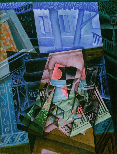 Canvas Art Prints Stretched Framed Painting Juan Gris Jose Victoriano Gonzalez Perez Spanish Still Life Before Open Window Place(China (Mainland))