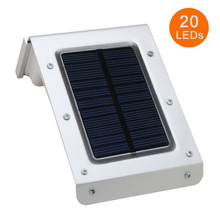 New 3rd Generation 20 LED Solar Lamps PIR Human Body Motion Sensor Ray Garden Home Security Outdoor Wall Light Waterproof(China (Mainland))