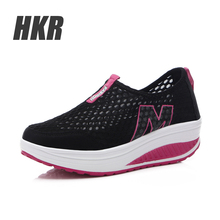 HKR 2015 Autumn women platform wedge shoes women shoes zapatos mujer, Women casual shoes black flat platform shoes 3308(China (Mainland))