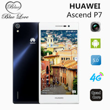 Original Huawei Ascend P7 Kirin 910T Quad Core 4G LTE Cell Phone Android 4.4 2GB RAM 16GB ROM 5.0″ FHD 13.0MP Camera In Stock