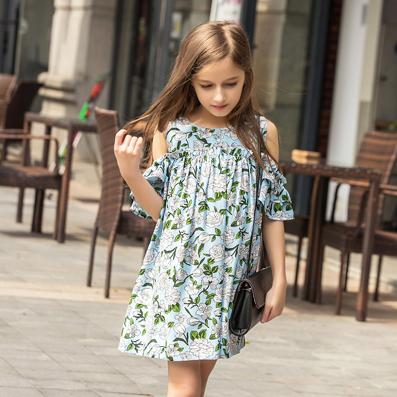 Chiffon Dress Girls Dresses 2016 Spring And Summer Children's Clothes Lovely Princess Girls Dresses Holiday Party(China (Mainland))