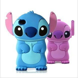 New Fashion Lovely Cartoon 3D Stitch silicon Case Cover Skin iPhone 3G 3GS 4 4S 5G 5S Free