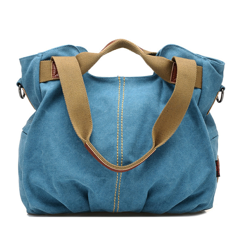 Hot Sale Canvas Women Bag All-Match Casual Women Handbag Vintage Women's Messenger Shoulder Bags Travel Sports Bag