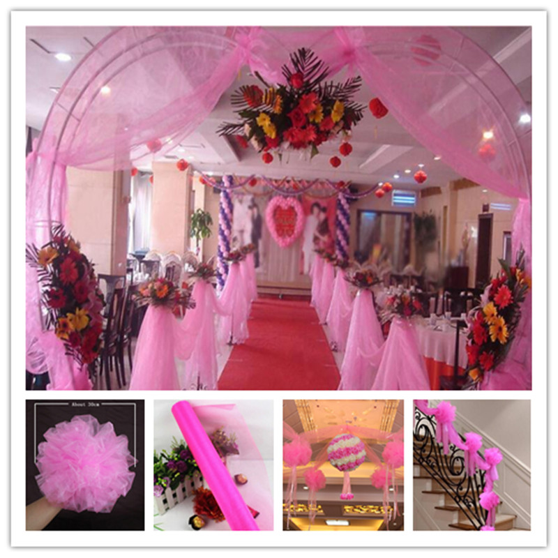 Transparent yarn gauze 72CM * 10M crystal yarn flower heart arches happy door wedding decorations party activities 5zSH015-2(China (Mainland))