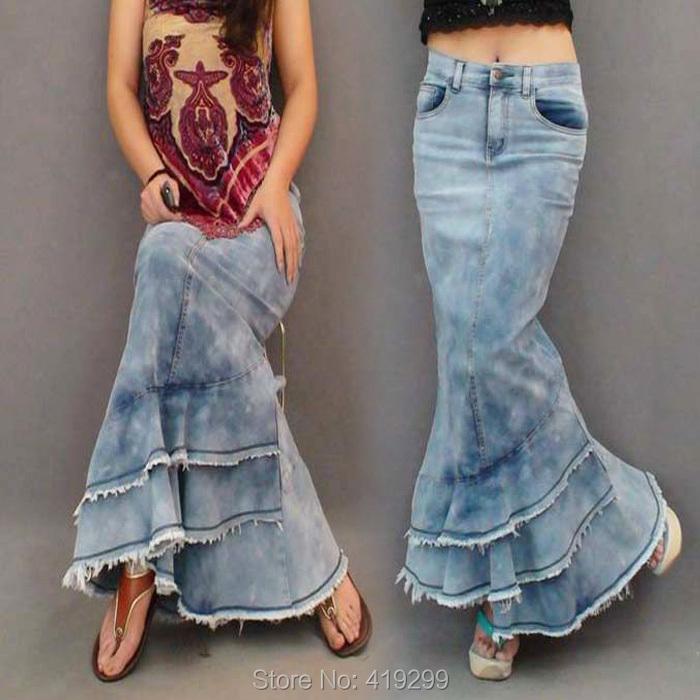 Denim with maxi skirt MODA 2 Pinterest Falda, Maxi