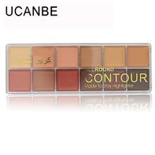 New Brand 12 Colors Professional Base Makeup Natural Concealer All Round Contour Perfect Flaws Long Lasting Concealer Palette(China (Mainland))