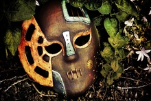 Flowers leaves steampunk masks Home Decoration Canvas Poster