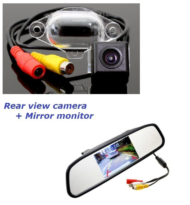 2in1 for Ashok Leyland Stile car auto backup rear view rearview reverse parking camera camara kamera with screen display monitor(China (Mainland))