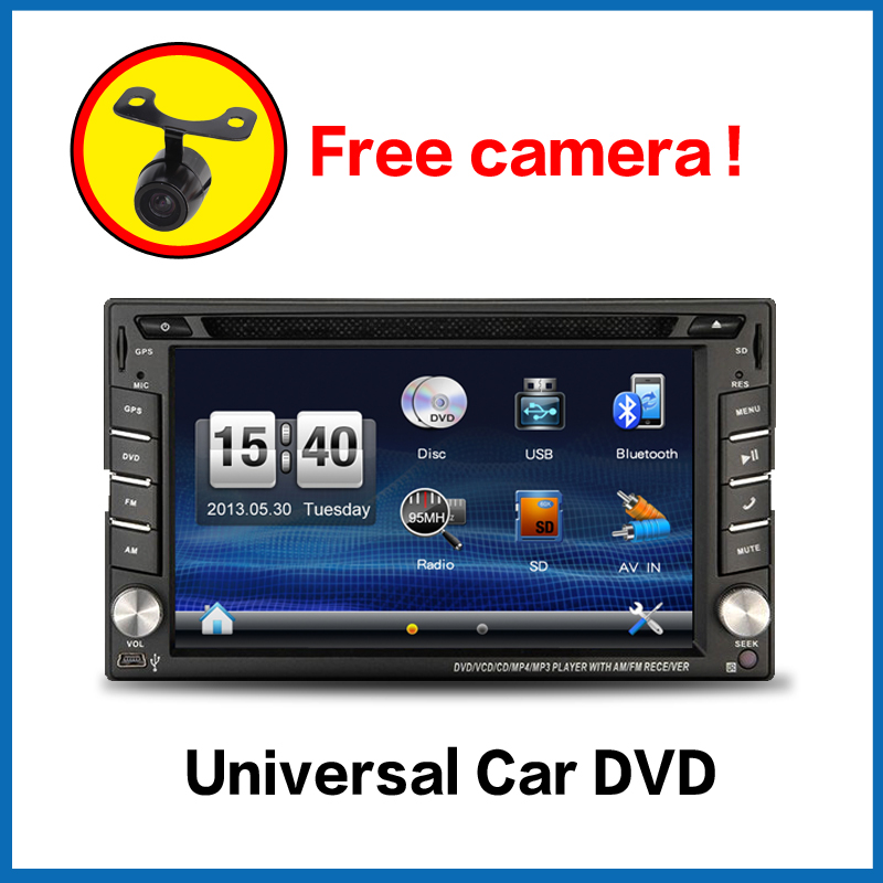Car Electronics 2din car dvd player GPS Radio Tuner PC Video Monitors for universal RDS Blutooth digital tv (optional)(China (Mainland))