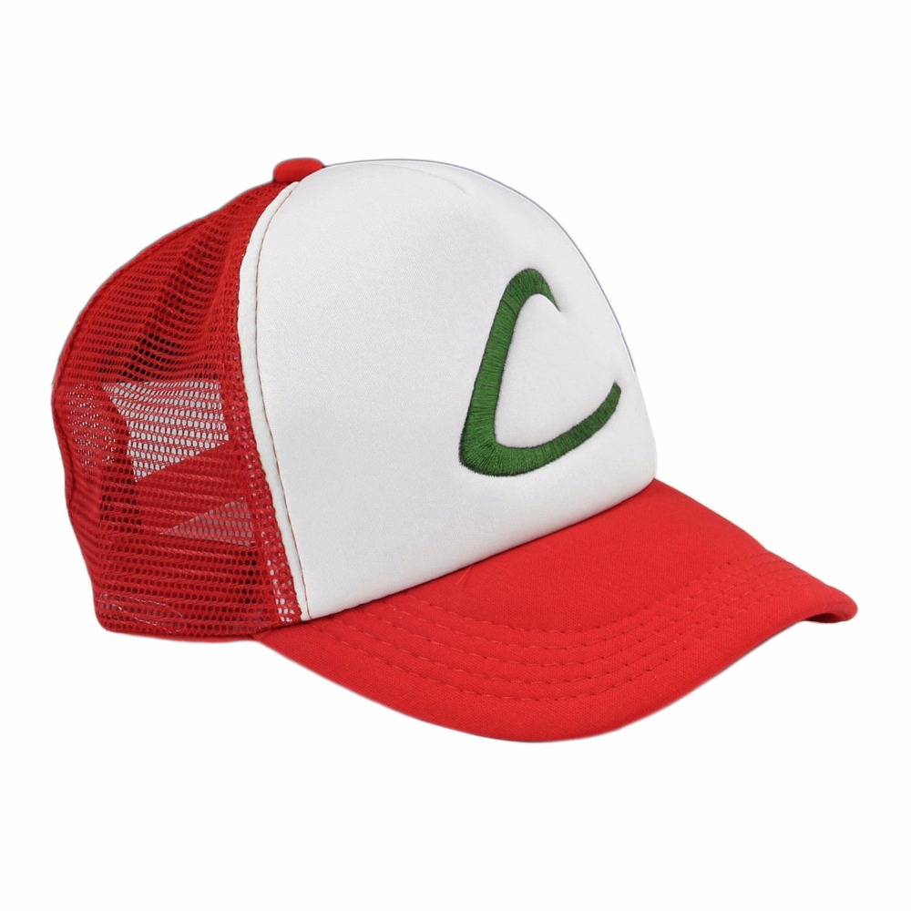 Hot on sale Anime Cosplay Pokemon Pocket Monster Ash Ketchum Baseball Trainer Cap Hat Gift Free shipping(China (Mainland))