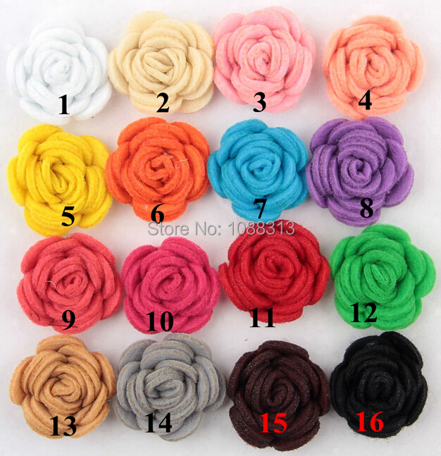 2015 Newest 3D Fabric Rose Flowers for DIY Jewelry Hair Band Hair Clips Brooch Garment Decoration Mixed Color Flatback Flower(China (Mainland))