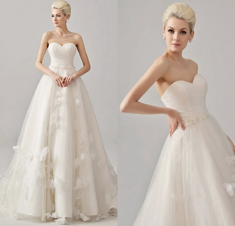 Romantic Weddings Simple: New Romantic Latest Designs Wedding Gowns Bride Dress