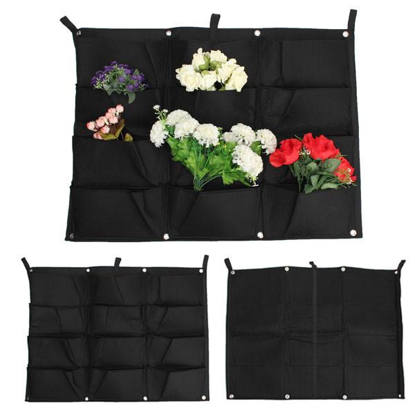 12 bolsos de ao ar livre , vasos de flores e vasos plantador de suspensão plantador de parede verde campo 66 * 80 cm