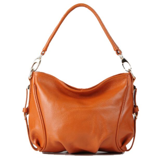 8 Colors NEW Women GENUINE LEATHER Handbag Calfskin Shoulder bag Natural Cowhide crossbody bags HOBO Fashion FOR girl Z007(China (Mainland))