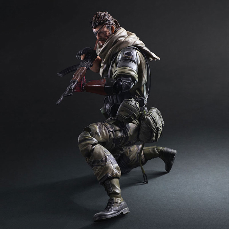METAL GEAR SOLID Action Figures Playarts Kai Snake PVC 28cm Collectible Model Toy Anime METAL GEAR SOLID 2 Play Arts Kai(China (Mainland))