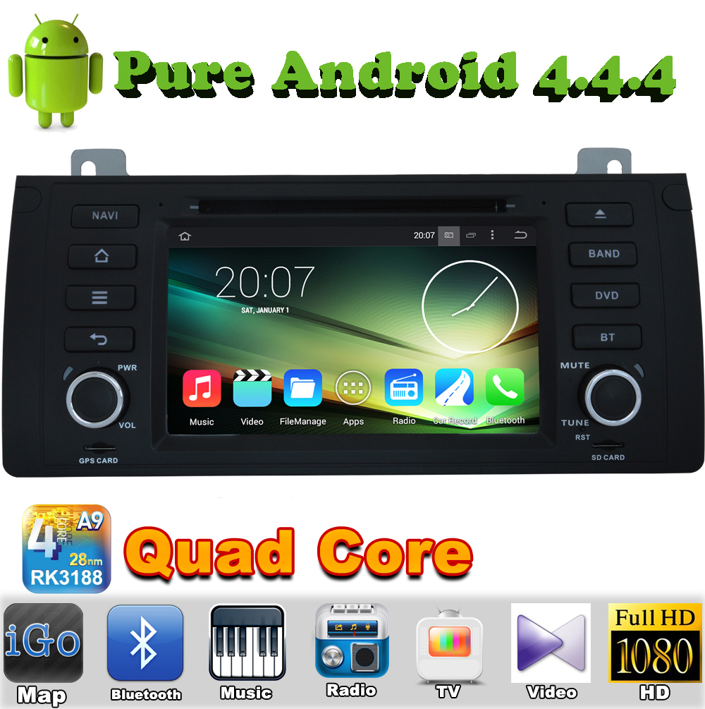 1 din android 4.4 quad core car audio dvd automotivo for BMW X5 E53 2000 2001 2002 2003 2004 2005 2006 2007 gps autoradio tv(China (Mainland))