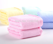"""New Fashion Top Free Shipping 20PCS Bamboo towel baby towel Hand Towels Terry Cloths 4 Colors 10""""*10""""(China (Mainland))"""