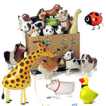 Original Animals Walking Pet Balloon Toys For Children Kids Gifts Fun Party Animal Foil Balloons Children's toys New Funny Toys(China (Mainland))