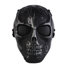 Cool Skull Skeleton Airsoft Paintball War Game Full Face Protection Mask Guard  T#3T