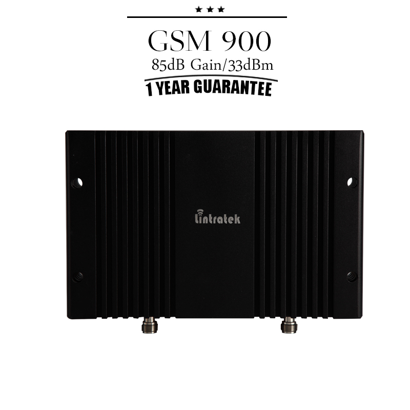 Lintratek GSM 900mhz 85dB Gain 33dBm Large Power Cellphone Signal Booster GSM Mobile Cellular Repetidor Amplificador