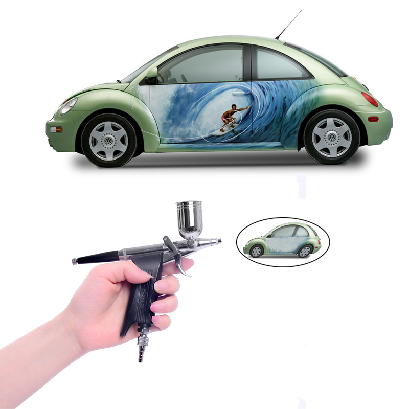 Dual Action Air Brush Paint Kit 0.3mm Needle airbrush for painting cars Bicycle tattoos Aerograph Air Gun Art Tattoo Machine(China (Mainland))