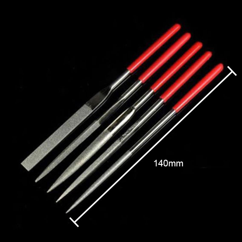 5Pcs/set 140mm Needle Files cloth Jeweler Diamond yarn Carving Craft Tool Metal Glass Stone Free Shipping