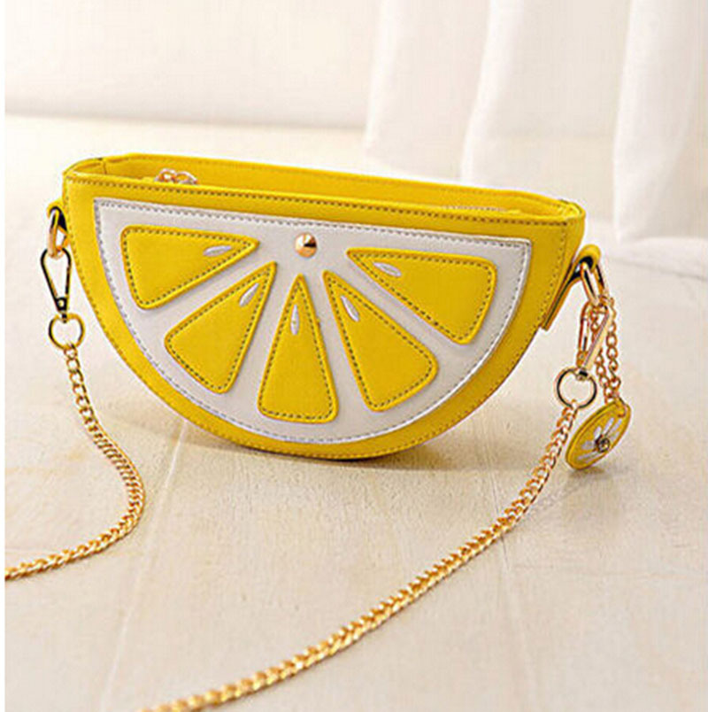 Гаджет  2015 New Style Women Cute Small Lemon Orange Shape Bag Evening Banquet Wedding Party Clutches Bolsas Fashion Shoulder Handbags None Камера и Сумки