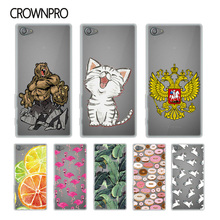 Buy CROWNPRO Soft Silicone TPU Sony Xperia Z5 Compact E5823 E5803 Cover Colorful Print Case Back FOR Sony Z5 Mini Mobile Phone for $1.20 in AliExpress store