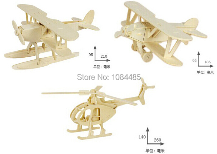 3d Wooden Puzzles For Adults 3pcs Lot Diy 3d Wooden Puzzles