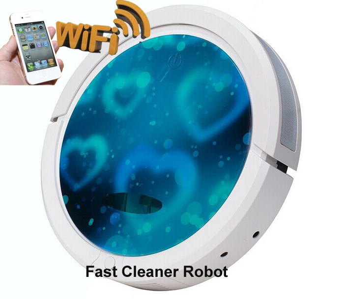 Wet And Dry Robot Vacuum Cleaner QQ6 Wireless WIFI APP SMARTPHONE Control With 150ml Water Tank ,Vacuum,Swpeer,Wet And Dry Mop(China (Mainland))