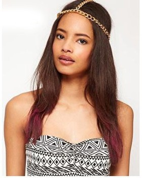 Min.order is $10 (mix order) Free shipping Hot Fashion Head Chain Simple Metal Chain Hair Jewelry Head Band For Women