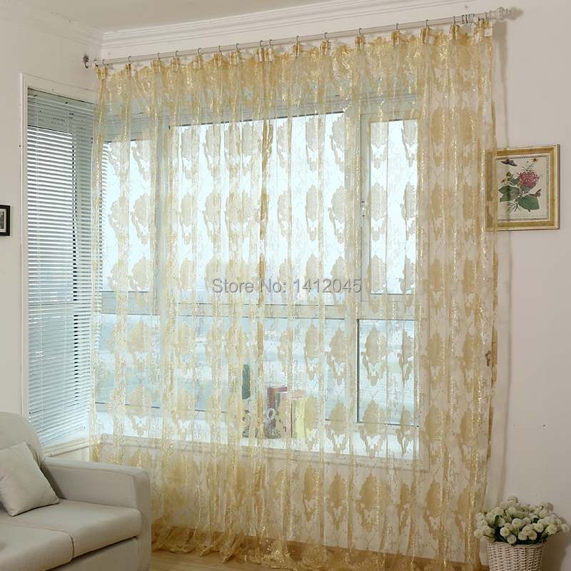 Fashion Modern Organza Finished Window Screning Curtain For Living Room Sheer Voile Curtains
