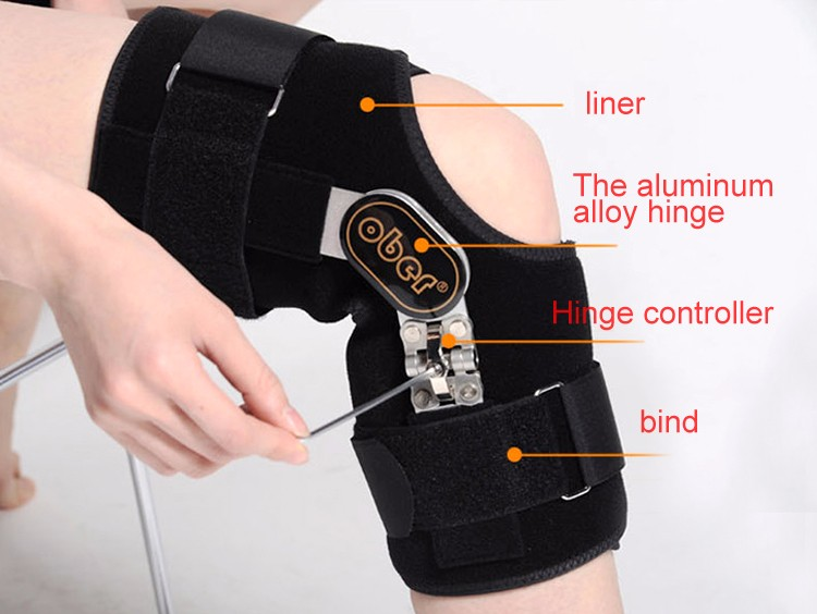 Health care relief pain Medical Knee Brace Fixator Aluminum Stabilizer Support For Knee Joint Loose Ligamentous Injury Leg KN-92 cheap
