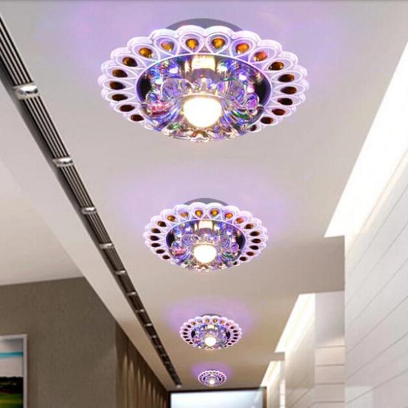 3w modern brief led crystal ceiling light bedroom lighting AC200-240V hallway Led lamps lustres home decoration abajur - GTOP LTD store