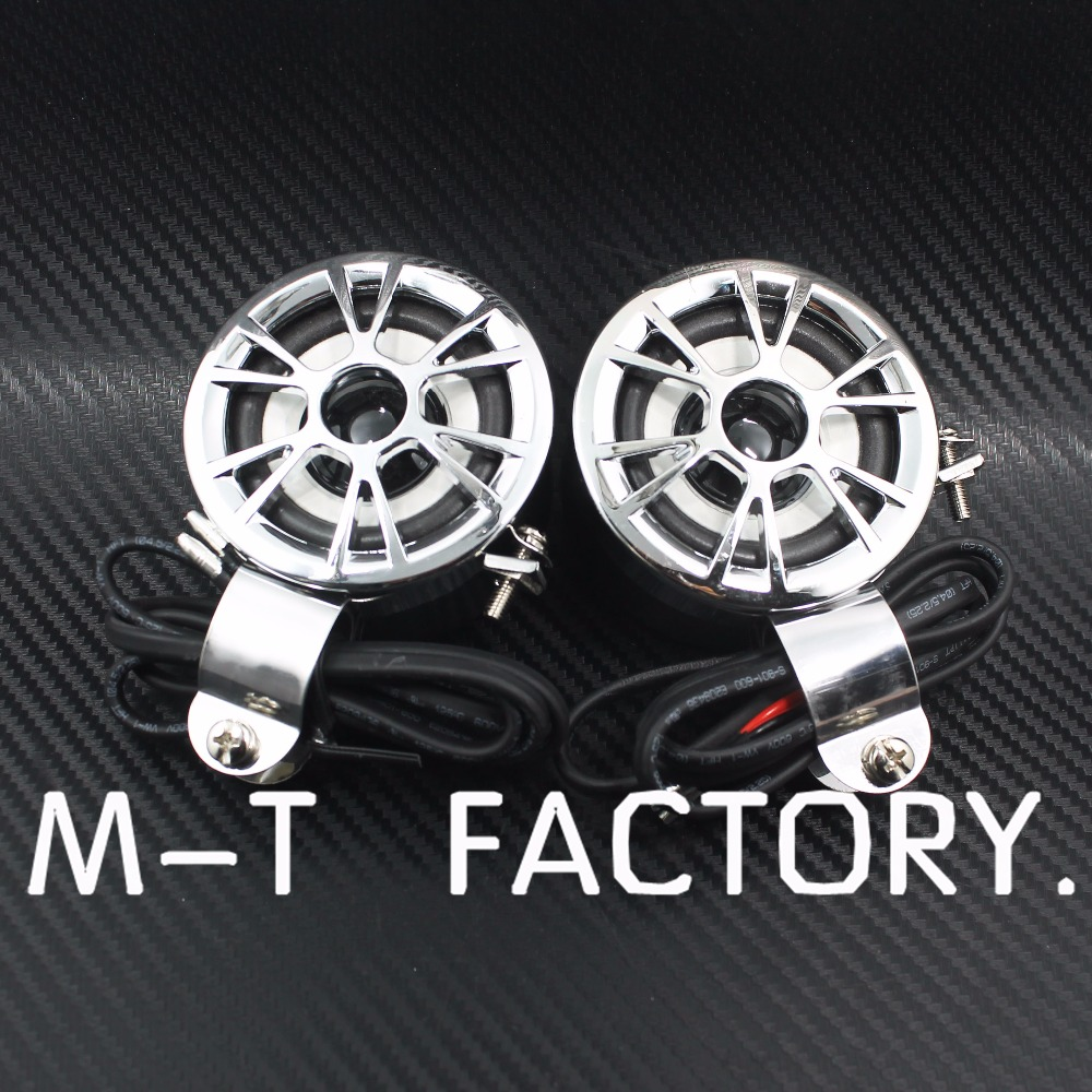 Pair Motorcycle Audio Handlebar Mount Speaker Stereo Amplifier 12V 15-30W For Universal Motorcycles