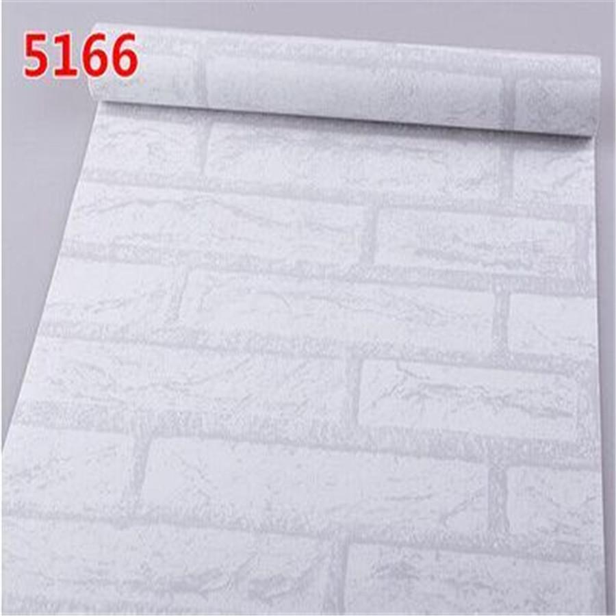 10 * 0.45 m personality imitation brick wallpaper white brick retro thick waterproof pvc self-adhesive wallpaper bedroom cards