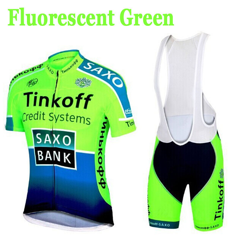 2016 Fluorescence Team Cycling Jerseys/Quick-Dry Cycling Jerseys GEL Pad Bike /Racing MTB Bicycle Clothing(China (Mainland))