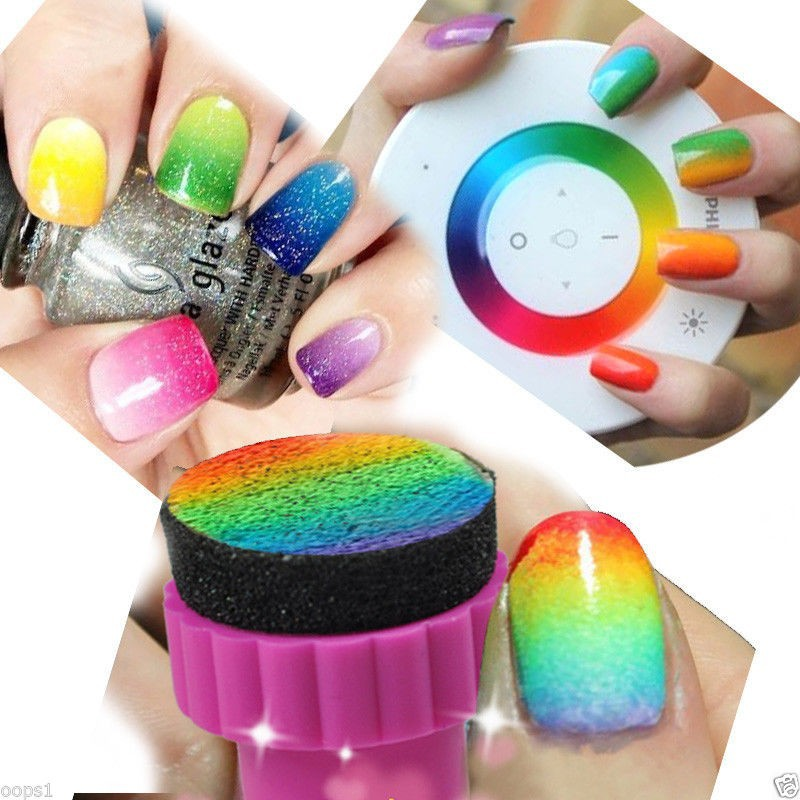 Wholesale Nail Art Sponge Stamping Manicure For Gel Polish Nail