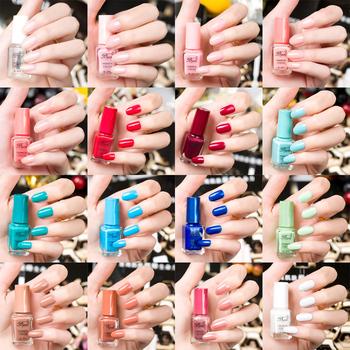 6 bottle new arrival waterhased bgirl nail polish oil foam nail art 1 - 24