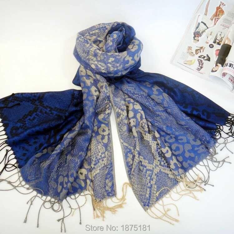 Men Women Scarf Tassel Scarfs Winter Leopard Snake Striped Scarves Cotton shawls scarves - Yutong Store store