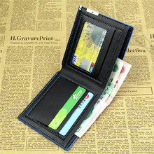 Wholesale 2015 HOT Men s Stylish Bifold Business Leather Wallet Card Holder Coin Wallet Purse Black