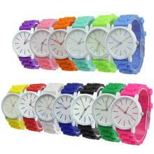 "S105""Fashion Women Geneva Silicone Rubber Jelly Gel Quartz Casual Sports Wrist Watch(China (Mainland))"