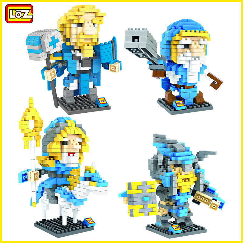 LOZ War Craft Human Hero Action Figure ArchMage Paladin MountainKing Mini Building Blocks WOW Decoration War3 Toy