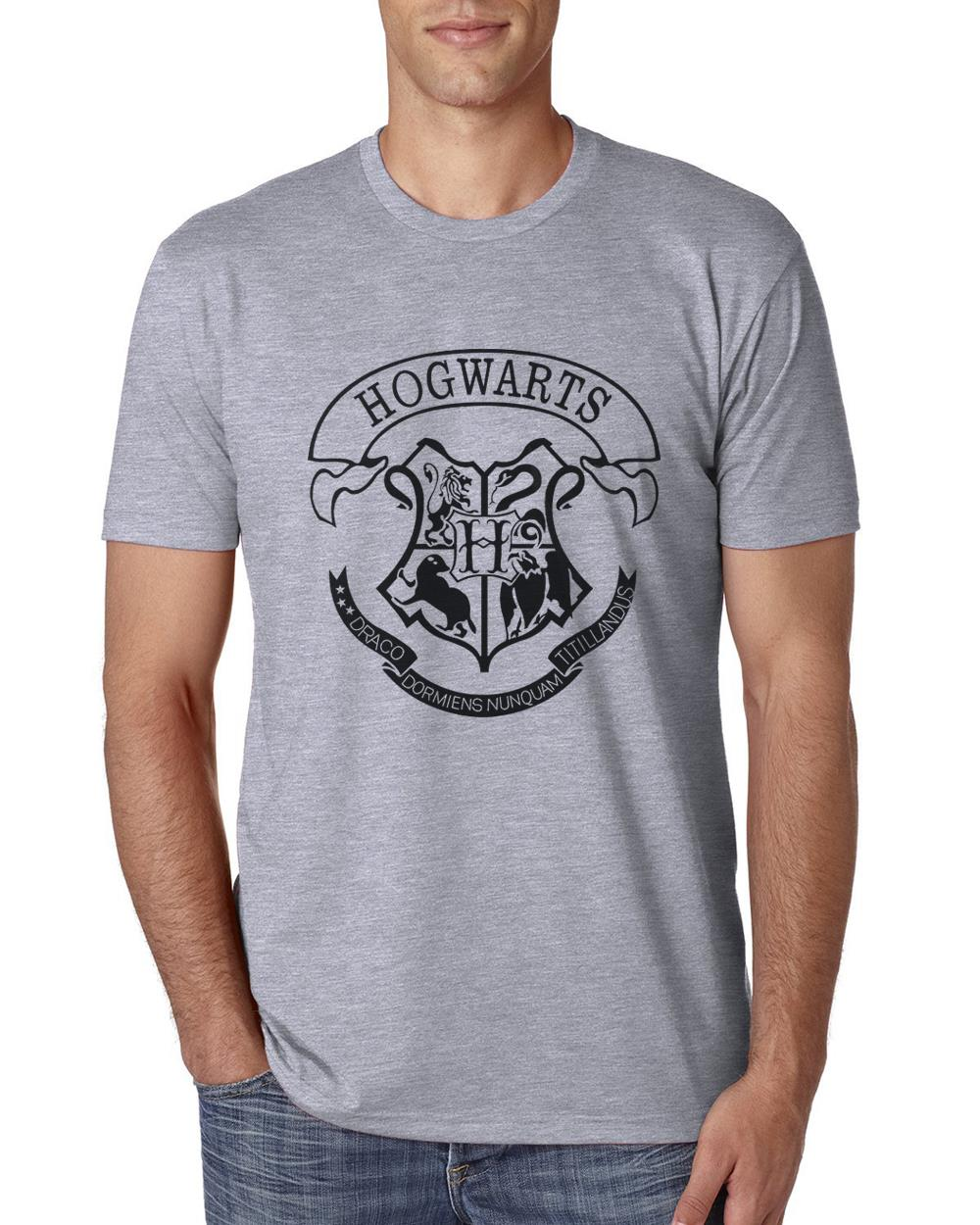 Men Cotton Harry Potter Hogwarts T Shirt