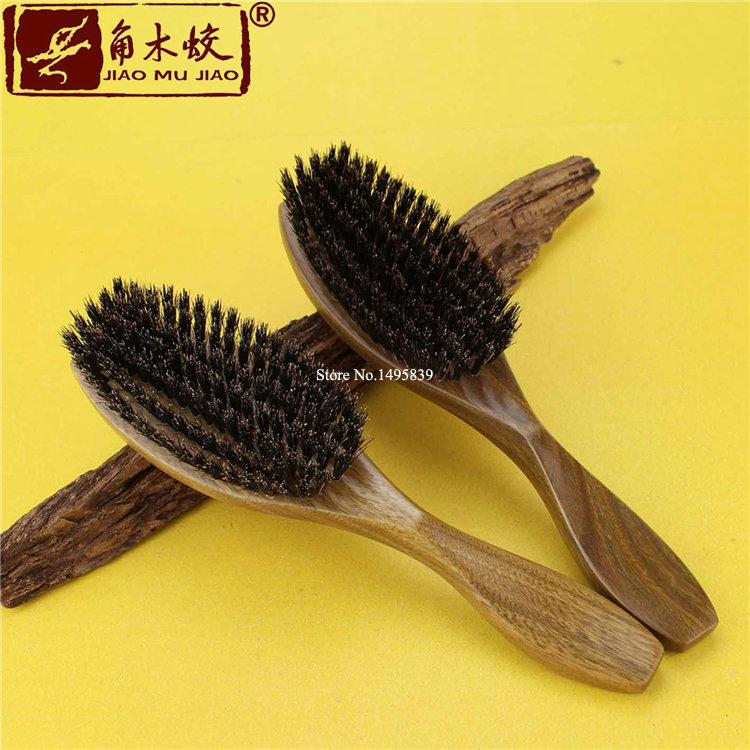938 manufacturers wholesale boutique natural green sandalwood comb bristle hair comb brush comb jade wingceltis(China (Mainland))