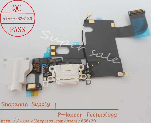 """White Charging Port/dock Microphone Headphone jack Flex Cable for iPhone 6 4.7"""" Replacement Parts(China (Mainland))"""