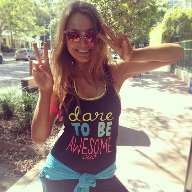 Lorna Jane Active Dare To Be Awesome Motivated Workout Singlet Tank Top WomenОдежда и ак�е��уары<br><br><br>Aliexpress