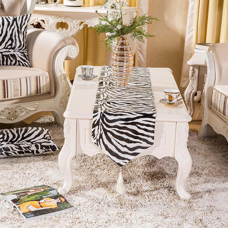 Zebra Print Table Runner