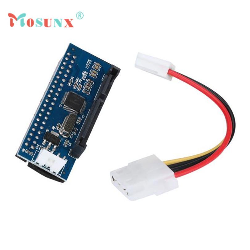 Hot-sale MOSUNX 40-Pin IDE Female To SATA 7+15Pin 22-Pin Male adapter PATA TO SATA Card 1 pc(China (Mainland))